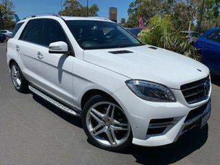 2014 Mercedes-Benz M-Class W166 ML350 BlueTEC 7G-Tronic + White 7 Speed Sports Automatic Wagon.