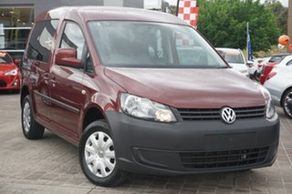 2012 Volkswagen Caddy 2K MY12 TDI250 Wagon Life SWB DSG Trendline Red 7 Speed.
