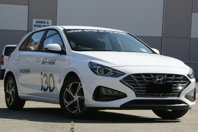 New Hyundai i30 PD.V4 MY21 Nunawading, 2021 Hyundai i30 PD.V4 MY21 Polar White 6 Speed Sports Automatic Hatchback