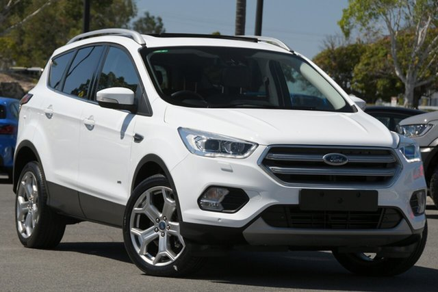 Used Ford Escape ZG 2019.25MY Titanium North Lakes, 2019 Ford Escape ZG 2019.25MY Titanium White 6 Speed Sports Automatic Dual Clutch SUV