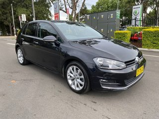 2016 Volkswagen Golf VII MY16 110TSI DSG Highline Black 7 Speed Sports Automatic Dual Clutch.