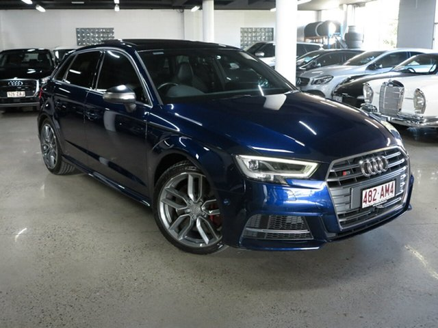 Used Audi S3 8V MY17 Sportback S Tronic Quattro Albion, 2016 Audi S3 8V MY17 Sportback S Tronic Quattro Blue 7 Speed Sports Automatic Dual Clutch Hatchback