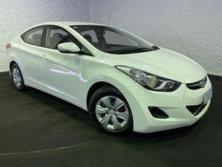2011 Hyundai Elantra MD Active White 6 Speed Manual Sedan.
