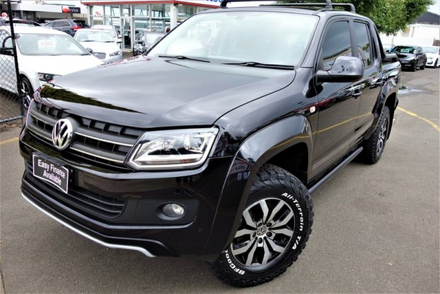 Used Volkswagen Amarok 2H MY15 TDI420 4MOTION Perm Canyon Seaford, 2015 Volkswagen Amarok 2H MY15 TDI420 4MOTION Perm Canyon Black 8 Speed Automatic Utility