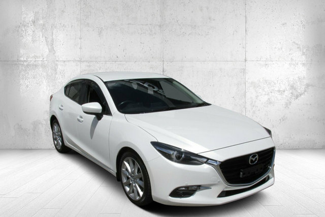 Used Mazda 3 BN5238 SP25 SKYACTIV-Drive GT Bendigo, 2018 Mazda 3 BN5238 SP25 SKYACTIV-Drive GT White 6 Speed Sports Automatic Sedan