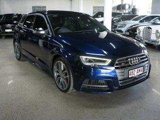 2016 Audi S3 8V MY17 Sportback S Tronic Quattro Blue 7 Speed Sports Automatic Dual Clutch Hatchback.