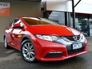 2012 Honda Civic 9th Gen VTi-S Red 5 Speed Sports Automatic Hatchback.