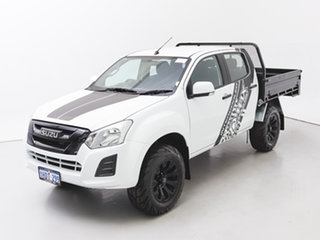 2017 Isuzu D-MAX TF MY17 SX (4x4) White 6 Speed Automatic Crew Cab Chassis