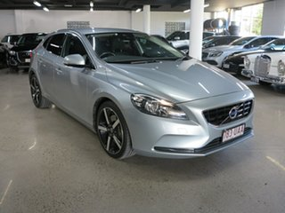 2014 Volvo V40 M Series MY15 T4 Adap Geartronic Kinetic Silver 6 Speed Sports Automatic Hatchback.