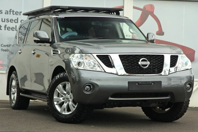 Pre-Owned Nissan Patrol Y62 Series 3 TI Ferntree Gully, 2016 Nissan Patrol Y62 Series 3 TI Grey 7 Speed Sports Automatic Wagon