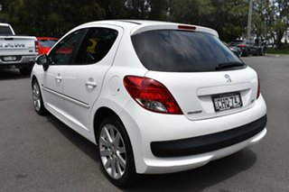 2012 Peugeot 207 A7 Series II MY12 Sportium White 4 Speed Automatic Hatchback
