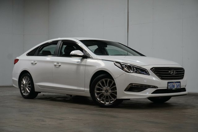 Used Hyundai Sonata LF2 MY16 Active Welshpool, 2016 Hyundai Sonata LF2 MY16 Active White 6 Speed Sports Automatic Sedan
