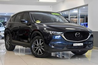 2018 Mazda CX-5 KF4W2A Akera SKYACTIV-Drive i-ACTIV AWD Blue 6 Speed Sports Automatic Wagon.