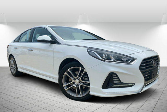 Used Hyundai Sonata LF4 MY18 Active Hervey Bay, 2018 Hyundai Sonata LF4 MY18 Active White 8 Speed Sports Automatic Sedan