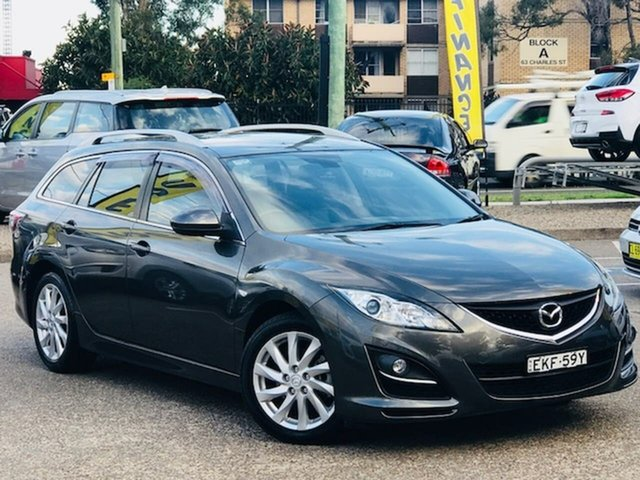 Used Mazda 6 GH1052 MY10 Touring Liverpool, 2011 Mazda 6 GH1052 MY10 Touring Grey 5 Speed Sports Automatic Wagon