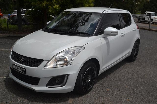 Used Suzuki Swift FZ MY14 GL Navigator Maitland, 2014 Suzuki Swift FZ MY14 GL Navigator White 5 Speed Manual Hatchback