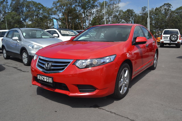Used Honda Accord Euro CU MY11 Maitland, 2011 Honda Accord Euro CU MY11 Red 5 Speed Automatic Sedan