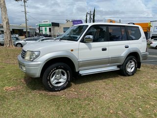 2001 Toyota Landcruiser Prado VZJ95R VX White 4 Speed Automatic Wagon.
