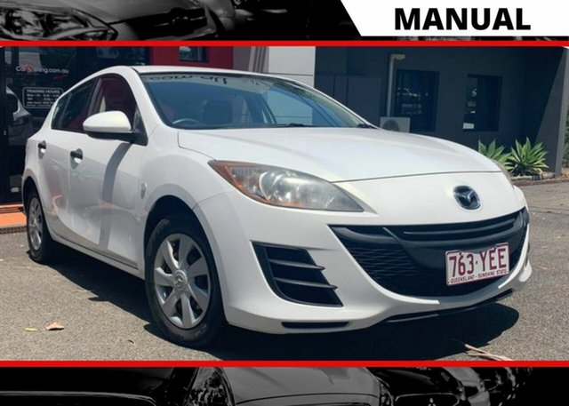 Used Mazda 3 BL10F1 MY10 Neo Ashmore, 2010 Mazda 3 BL10F1 MY10 Neo White 6 Speed Manual Hatchback