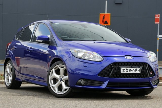 Used Ford Focus LW MkII ST Parramatta, 2014 Ford Focus LW MkII ST Blue 6 Speed Manual Hatchback