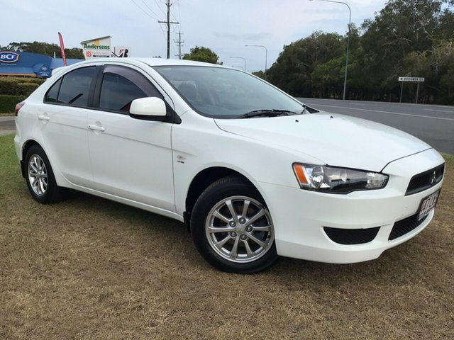 Used Mitsubishi Lancer CJ MY10 ES Sportback Caloundra, 2009 Mitsubishi Lancer CJ MY10 ES Sportback White 6 Speed Constant Variable Hatchback