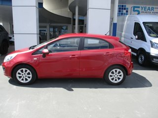 2012 Kia Rio S Red Automatic Hatchback.
