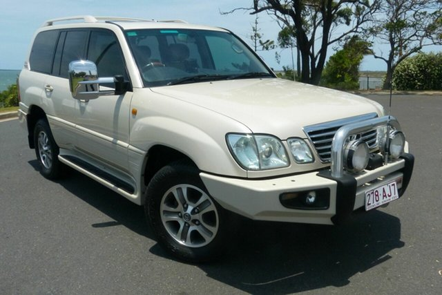 Used Lexus LX UZJ100R MY06 LX470 Gladstone, 2007 Lexus LX UZJ100R MY06 LX470 White 5 Speed Automatic Wagon