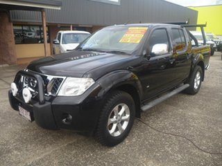 2013 Nissan Navara D40 S5 MY12 ST-X Blackline Black 7 Speed Sports Automatic Utility.