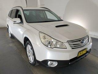 2011 Subaru Outback B5A MY11 2.0D AWD White 6 Speed Manual Wagon.