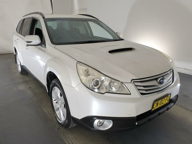 Used Subaru Outback B5A MY11 2.0D AWD Maryville, 2011 Subaru Outback B5A MY11 2.0D AWD White 6 Speed Manual Wagon