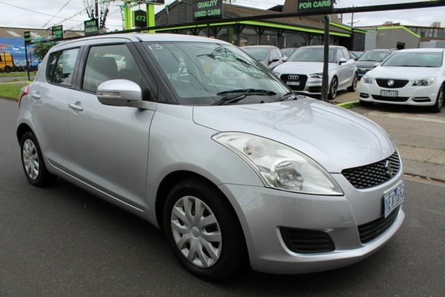 Used Suzuki Swift FZ GLX West Footscray, 2011 Suzuki Swift FZ GLX Silver 4 Speed Automatic Hatchback