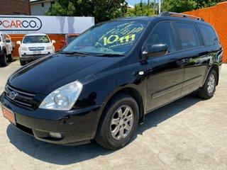 2007 Kia Grand Carnival VQ Premium Black 5 Speed Sports Automatic Wagon.