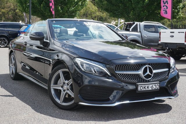Used Mercedes-Benz C-Class A205 C200 9G-Tronic Phillip, 2016 Mercedes-Benz C-Class A205 C200 9G-Tronic Black 9 Speed Sports Automatic Cabriolet