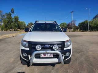 2013 Ford Ranger PX Wildtrak Double Cab Cool White 6 Speed Sports Automatic Utility.