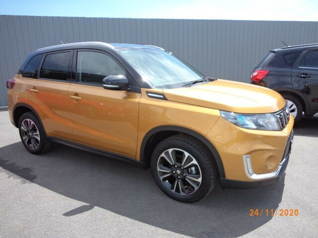 Used Suzuki Vitara Series II Turbo Wagga Wagga, 2019 Suzuki Vitara Series II Turbo Solar Yellow & Cosmic Black Roof 6 Speed Automatic Wagon