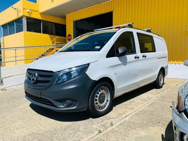 Used Mercedes-Benz Vito 447 119BlueTEC Crew Cab MWB 7G-Tronic + Canning Vale, 2017 Mercedes-Benz Vito 447 119BlueTEC Crew Cab MWB 7G-Tronic + White 7 Speed Sports Automatic Van