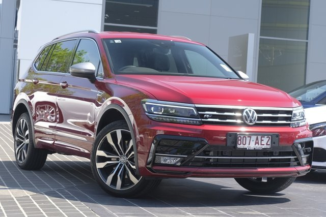 Demo Volkswagen Tiguan 5N MY20 162TSI Highline DSG 4MOTION Allspace Newstead, 2020 Volkswagen Tiguan 5N MY20 162TSI Highline DSG 4MOTION Allspace Ruby Red 7 Speed