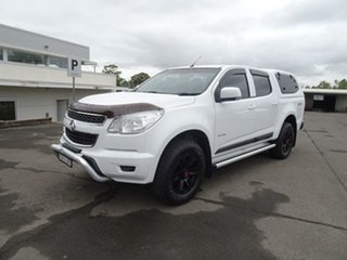 2013 Holden Colorado RG MY14 LX Crew Cab White 6 Speed Manual Utility.