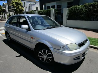 2002 Ford Laser KQ GLXi Silver 4 Speed Automatic Hatchback.