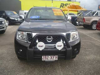 2013 Nissan Navara D40 S5 MY12 ST-X Blackline Black 7 Speed Sports Automatic Utility