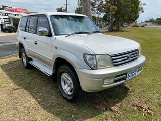 2001 Toyota Landcruiser Prado VZJ95R VX White 4 Speed Automatic Wagon