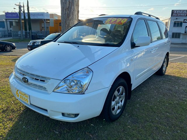 Used Kia Grand Carnival VQ MY07 EX Clontarf, 2008 Kia Grand Carnival VQ MY07 EX White 5 Speed Sports Automatic Wagon