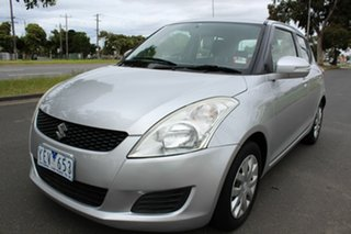 2011 Suzuki Swift FZ GLX Silver 4 Speed Automatic Hatchback.