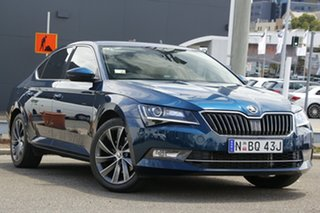 2017 Skoda Superb NP MY17 140TDI Sedan DSG Blue 6 Speed Sports Automatic Dual Clutch Liftback.