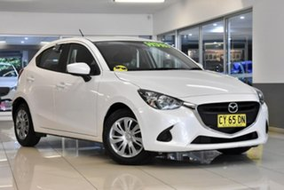 2016 Mazda 2 DJ2HAA Neo SKYACTIV-Drive White 6 Speed Sports Automatic Hatchback.