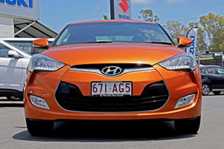 2011 Hyundai Veloster FS Coupe D-CT Orange 6 Speed Sports Automatic Dual Clutch Hatchback.