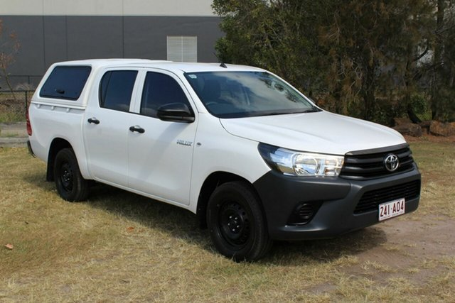 Used Toyota Hilux TGN121R Workmate Double Cab 4x2 Ormeau, 2017 Toyota Hilux TGN121R Workmate Double Cab 4x2 White 6 Speed Sports Automatic Utility