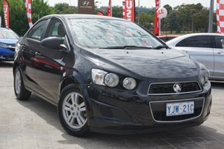 2012 Holden Barina TM MY13 CD Black 6 Speed Automatic Hatchback.