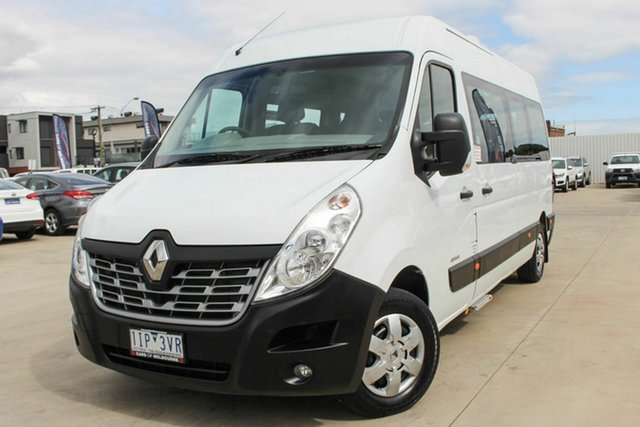 Used Renault Master X62 Mid Roof LWB AMT Coburg North, 2016 Renault Master X62 Mid Roof LWB AMT White 6 Speed Sports Automatic Single Clutch Bus
