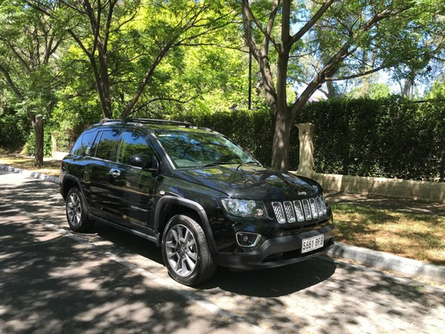 Used Jeep Compass MK MY14 Limited Hawthorn, 2014 Jeep Compass MK MY14 Limited Black 6 Speed Sports Automatic Wagon